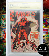 Avengers 57 Cbcs Fn- 5.5 Marvel Signature Series Stan Lee And Roy Thomas