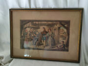Antique Lithograph Dated 1837 The Marriage Jl Marks Long Lane Smithfield