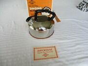 Westbend Singing Tea Kettle - Stainless Steel - Copper Bottom - New-in-box