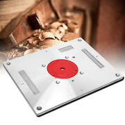 Aluminum Alloy Router Table Insert Board With 2 Pcs Insert Ring And1 Pc Hex Wrench