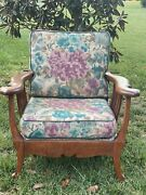 Antique Large Solid Oak Reclining Morris Chair Quarter Sawn Buyer Pays Ship