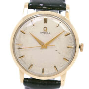 Omega Cal.284 Antique Watches K18 Yellow Gold/leather Hand Winding Analog ...