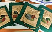 Set 4 Quilted Duck To Finish Pillow Covers Mallard Greenwing Wood Merganser