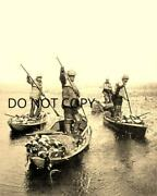 Antique Pre 1900 8x10 Reproduction Photo Print 4 Duck Hunting Boats