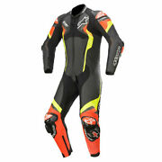 Alpinestars Atem V4 Motorcycle One Piece Leather Suit Black / Red / Yellow