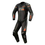 Alpinestars Gp Force Chaser Motorcycle One Piece Leather Suit Black / Fluo Red