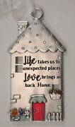 Qqllife Takes Us To Unexpected Places Love Brings Us No Place Like Home Ornament