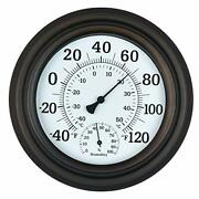 Wihoo 8 Indoor Outdoor Thermometer/hygrometer For Patio Wall Or Decorative
