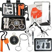 Survival Kit Outdoor Emergency Gear Kit For Camping Hiking Travelling Or Basic
