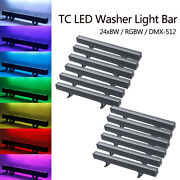 12pcs Rgbw 24led Wall Washer Bar Light 4in1 Dmx512 Strobe Effect Party Display