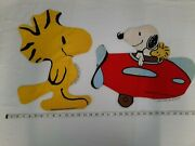 Vintage Peanuts Snoopy And Woodstock Craft Fabric Panel Cut And039n Sew Pillow Toy Doll