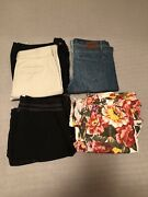Womens Lot Of 11 Pants 3 Skirts Assorted Styles Colors And Sizes Pre Owned