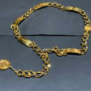 Vintage Authentic Chain Belt Coco Gold Gp Coin Old 20.8 In H545447592