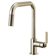 Brizo 63054lf-pn Litze Pull-down Faucet W/ Square Spout And Industrial Handle