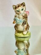 Authentic Vintage Beswick England Animal Figurine- Cat With Bow