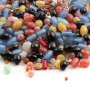 Lot 700+ Vintage Czech Satin Lampwork Faceted Rondelle Bugle Seed Glass Beads