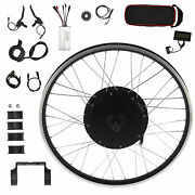 Electric Bicycle 26in Wheel Motor 48v 1000w Conversion Kit For Kt‑lcd3 Displays