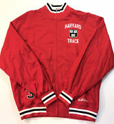 Stall And Dean Harvard Mens Crimson Ivy League College Spell Out Track Jacket 3xl