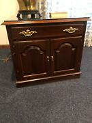 Vintage Ethan Allen Georgian Court Solid Cherry Lamp Table Square End Table