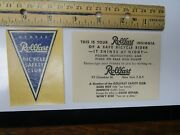 Vtg 1930's Pre-war Bicycle Shop Rollfast Insignia Safety Bike Frame Decal And Card