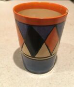 Clarice Cliff Early Geometric Beaker For Restoration