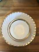 Fire-king White And Gold China 8 Piece Set Made In Usa