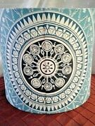 Collectible Vintage Retro Lamp Shade Blue-white Color Patterns Shape-style F