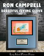 Ron Campbell Original Mixed Media Yellow Submarine Dreadful Flying Glove Framed
