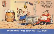 Humor Paw Turn Them Chickens And Lets Go To Bed Everything Will Be Ok Postcard