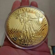Large 1933 Gold Double Eagle Lady Liberty Coin Proof Lucky Money Copy
