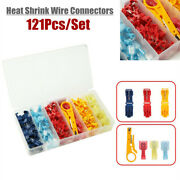 121pcs Heat Shrink Wire Connectors Nylon Boat Marine Electrical Terminals Kit