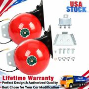 2pcs Super Snail Air Train Horn For Truck Car Boat Motorcycle 12v Electric Horn