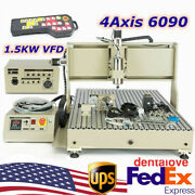 1.5kw Usb 4axis 6090 Cnc Router Engraver 3d Engraving Milling Machine+controller