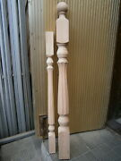 Grand Stair Balusters Newel Posts Carved Wood Spindles Staircase Balcony Railing