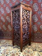 Antique Ornately Carved Table Fern Plant Stand