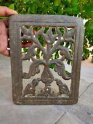 Antique Bird Carved Stone Window Panel Floral Carved Islamic Panel Old Original