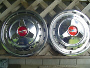 2 Vintage 1957 Chevrolet Chevy Belair Impala Nomad Biscayne Hubcaps Wheel Covers