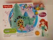 New Fisher-price Arieland039s Castle Little People Sounds And Music Little Mermaid Nib
