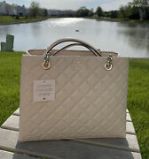 New Kate Spade New York Natalia Large Tote Quilted Bare Great Gift