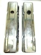 1960's Chrome Engine Small Block Valve Covers Chevrolet Vintage Used Old Metal