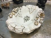 Von Schierholz Germany 1917 Gold Gilt Roses And Floral Repousse Blooms Bowl