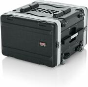 Gator Cases Grr-6l 6u Molded Rack Case With Wheels And Pull-out Handles 19 Depth