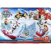 Paw Patrol Advent Calendar Includes 24 Gifts To Explore - Ages 3+ Multicolor