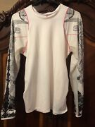 Lucky In Love Active Golf Tennis Shirt Long Sleeve Size Large Xl White Black