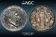 1820 Spain Ferdinand Vii. Silver Oath Of The Constitution Medal. Ngc Ms-62