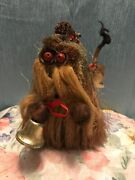 """Rare Vintage 5 Arts Studio Ken Arensbak 8"""" Troll With Bell And Red Eyes"""