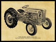 Ford Golden Jubilee Naa Tractor Metal Sign - 24 X 30 Usa Steel Xl Size 7 Lbs