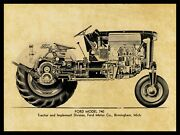 Ford Model 740 Tractor Metal Sign - 24 X 30 Usa Steel Xl Size 7 Lbs