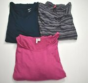 Lot Of 3 Womens Multicolor Plus Size Tops Torrid Pure Energy Cato 4 And 26/28w