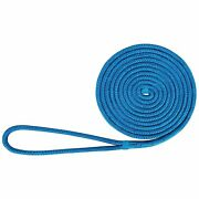 Amarine Made 5/8x 20and039 Durable Double Braid Nylon Boat Dock Line Mooring Rope